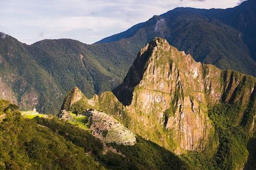 Peru Travel Photography Machu Picchu Inca ruins and Huayna Picchu Wayna Picchu Cusco Region Peru South America
