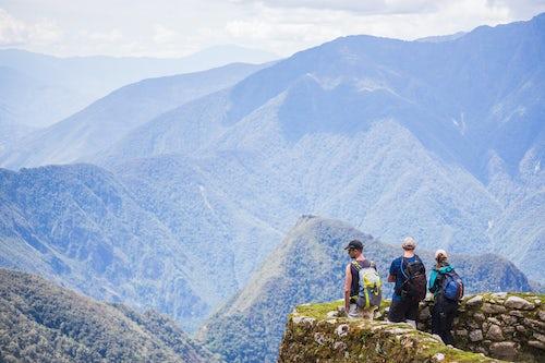 Peru Travel Photography Phuyupatamarca Inca ruins on Inca Trail Trek day 3 Cusco Region Peru South America