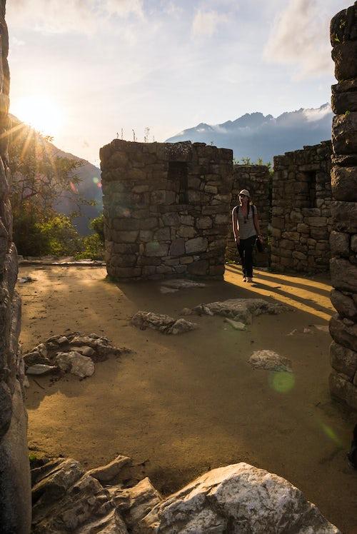 Peru Travel Photography Sun Gate Inti Punku or Intipuncu Machu Picchu Cusco Region Peru South America