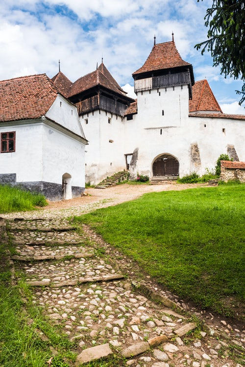 Romania Architecture Travel Photography Viscri Fortified Church in Viscri one of the UNESCO listed Villages with Fortified Churches in Transylvania Romania
