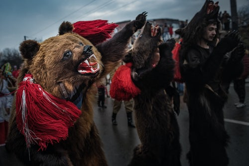 Romania Documentary Travel Photography New Year Bear Dancing Festival Comanesti Moldova Romania 6