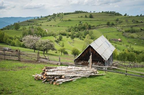 Romania Landscape Travel Photography Farm in Jina a commune of shepherds in Sibiu County Transylvania Romania