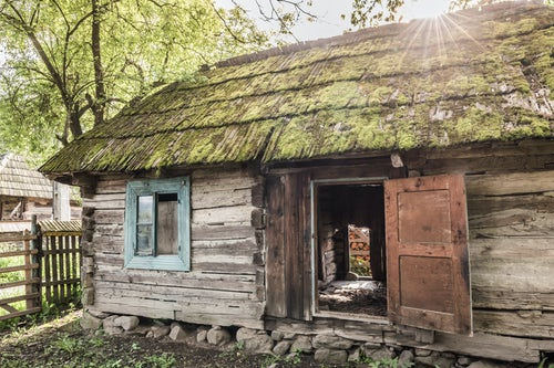 Romania Travel Photography Traditional old wooden house in Breb Brebre Maramures Romania