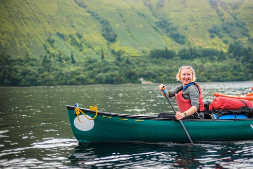 Scotland Adventure Travel Photography Canoeing Loch Lochy part of the Caledonian Canal Fort William Scottish Highlands Scotland United Kingdom Europe 2