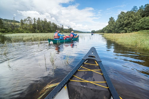 Scotland Adventure Travel Photography Canoeing Loch Oich along the Caledonian Canal near Fort William Scottish Highlands Scotland United Kingdom Europe