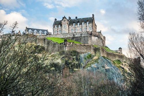 Scotland Travel Photography Edinburgh Castle Scotland United Kingdom Europe