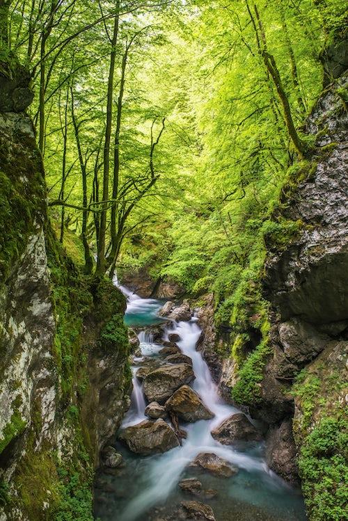 Slovenia Landscape Photography Zadlascica River Canyon Tolmin Gorges Triglav National Park Triglavski Narodni Park Slovenia Europe