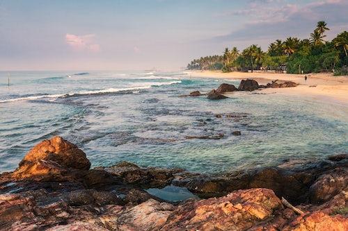 Sri Lanka Beach Seascape Landscape Photography Midigama Beach near Weligama on the South Coast of Sri Lanka Asia