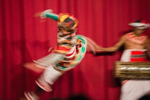 Sri Lanka Travel Photography Kandy man dancing traditional Kandyan dance at a tourist show in Kandy Sri Lanka Asia