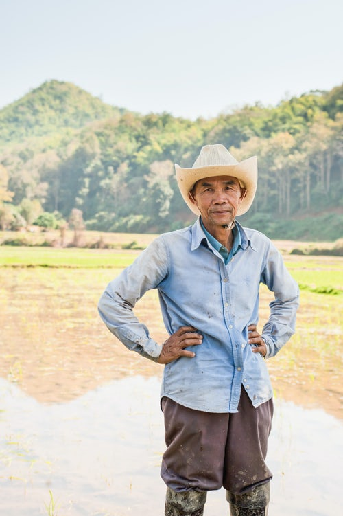 Thailand Portrait Travel Photography Portrait of a rice field worker from the Lahu Tribe Chiang Rai Thailand Southeast Asia Asia Southeast Asia