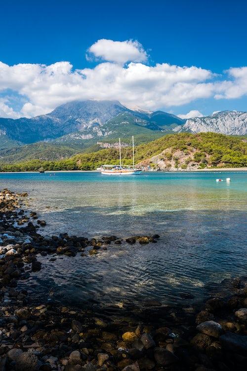 Turkey Travel Photography Bay at Phaselis near Kemer Antalya Province Mediterranean Coast Turkey Eastern Europe