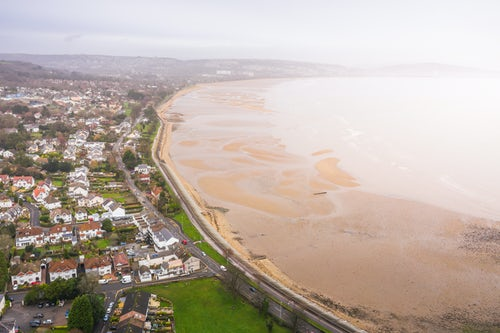 Wales Drone Photography Mumbles and Swansea Bay Swansea Wales drone