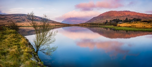 Wales Landscape Photography Lake at sunrise near the foot of Snowdon Snowdonia National Park North Wales