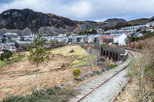 Wales Landscape Photography Town in Snowdonia National Park North Wales
