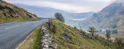 Wales Landscape Photography View of Llyn Gwynant Lake Snowdonia National Park North Wales