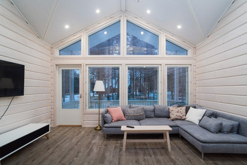 Architecture and Hotel Photography by Professional Freelance Hotel Property and Resort Photographer in London England UK Cabin in Akaslompolo Lapland Finland 2