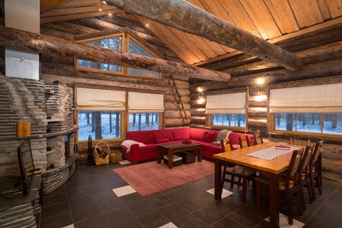 Architecture and Hotel Photography by Professional Freelance Hotel Property and Resort Photographer in London England UK Cabin in Akaslompolo Lapland Finland 3