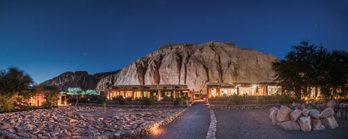 Architecture and Hotel Photography by Professional Freelance Hotel Property and Resort Photographer in London England UK Starry night at Hotel Alto Atacama Desert Lodge and Spa