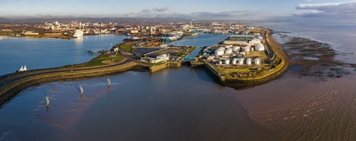 Drone Photography by UK London Freelance Drone Photographer Cardiff Port Cardiff Wales