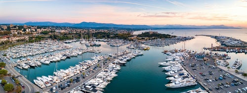 Drone Photography by UK London Freelance Drone Photographer Fort Carré and Antibes Harbour Provence Alpes Côte d Azur Region South of France drone Europe