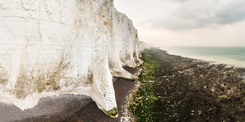 Drone Photography by UK London Freelance Drone Photographer The Seven Sisters chalk cliffs South Downs National Park East Sussex England 2