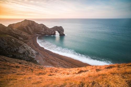 Landscape Photography by Professional Freelance UK Landscape Photographer Durdle Door at sunrise Lulworth Cove Jurassic Coast Dorset England 2