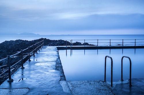 Landscape Photography by Professional Freelance UK Landscape Photographer Guernsey Bathing Pools at sunrise Channel Islands United Kingdom