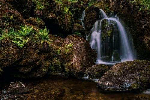 Landscape Photography by Professional Freelance UK Landscape Photographer Lodore Falls a waterfall near Keswick and Derwent Water Lake District Cumbria England UK Europe