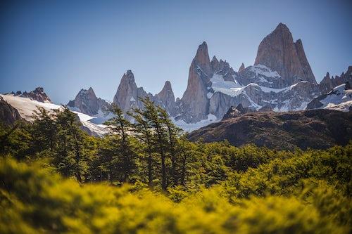 Landscape Photography by Professional Freelance UK Landscape Photographer Mount Fitz Roy aka Cerro Chalten a typical Patagonia landscape Los Glaciares National Park El Chalten Argentina South America