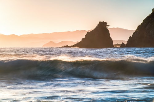 Landscape Photography by Professional Freelance UK Landscape Photographer Rocky Bay a beach at Tapeka Point at sunrise Russell Bay of Islands Northland Region North Island New Zealand